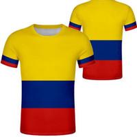 Kolombiya T Gömlek DIY Ücretsiz Custom Made Adı Numarası Col T-Shirt Ulus Bayrak Co İspanyol Cumhuriyeti Ülke Logosu Baskı Fotoğraf 0 Giysileri