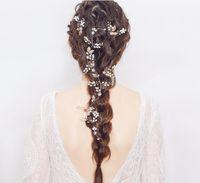 جديد وصول اليدوية دبابيس الشعر الزفاف لالعرسان الذهب بلورات U اللؤلؤ الزفاف دبابيس الشعر أغطية الرأس