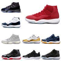 Billiga basketskor 11 11s Prom Night Win Gilla 96 82 Midnight Navy Platinum Tint Concord Legend Blue Sneakers Storlek EUR 40-47