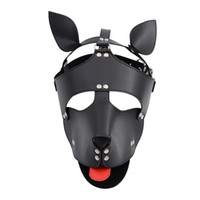 Mask Products PU Leather Hood Sex Adult Fetish Slave Gay Games Headgear In For Couples For Flirting Toys Women Dog Men Bondage Qhtnh