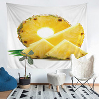 Wholesale - Pineapple Polyester Tapestry Fresco Yoga Beach B...