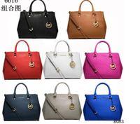 8ab2b5da5b91 Wholesale m k bags online - M female bag K double zipper killer bag cross  pattern tote Find Similar