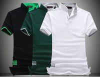 Diseño de moda del polo de los hombres calientes de la venta del cuello sólido del soporte de manga corta camisa de los hombres delgados camisetas ocasionales del algodón más el tamaño 6XL