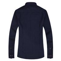 أزياء طباعة عارضة الرجال قميص طويل الأكمام خياطة واحدة برستد تصميم الأزياء جيب النسيج لينة مريحة الرجال اللباس يتأهل نمط