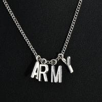 Miglior regalo nuovo modo KPOP BTS Jimin collana Bangtan Boys ESERCITO A.R.M.Y sospensione KOOK Jimin V SUGA Charms Jewelry