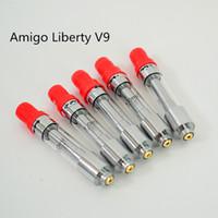 아미고 자유 V9 전자 담배 Vape 두꺼운 기름 카트리지 세라믹 코일 빈 Vape 펜 카트리지 분무기 펜 드립 팁 (510)