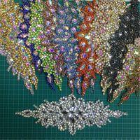5pcs à la main en cristal perlé strass Applique coudre / fer sur la ceinture de ceinture de mariée garniture de haute qualité ruban ceintures