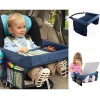Dobrável de Segurança Mesa de Assento Do Carro da Criança Do Bebê Crianças Brincam Bandejas de Viagem Tampa de Automóveis Covers Car acessórios caixa de armazenamento 5 Cores