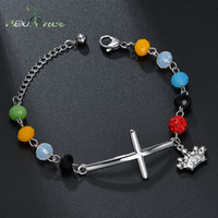 Nextvance Cross Colorful Beads Bracelet Stainless Steel Cute...
