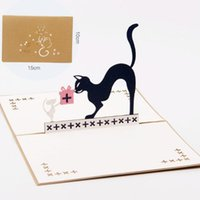 3D Pop Up Mouse&Cat Birthday Greeting Card Cartoon Tom and J...