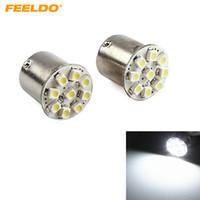 FEELDO 10PCS White 1157 7528 BAY15D 9SMD 1206 Chip Car Rear Brake Stop Turn Brake LED Light Bulb #1679