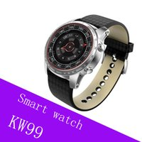 negocio KW99 Smart Watch Android 5.1 OS MTK6580 Bluetooth 4.0 3G WIFI GPS ROM 8 GB + RAM 512 MB Monitorización del ritmo cardíaco