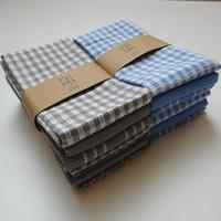 Serviette de cuisine en gros serviette en tissu européenne et américaine serviette en tissu, série de serviettes en coton, 2 couleurs, 3pcs / set