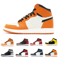 Shattered Backboard Away 1 OG Men Basketball Shoes Orange Br...