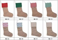 Canvas Christmas DIY Socks Stocking Gift Bags Xmas Stocking ...