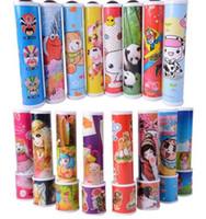 在庫あり!!!想像力豊かな漫画動物3 d万華鏡ペーパーカードケレイドスコープカラフルな世界おもちゃインタラクティブなおもちゃ子供QT033