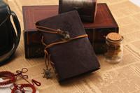 빈티지 가죽 여행 저널 Notebook Rudder Decoration Notebook 무료 배송