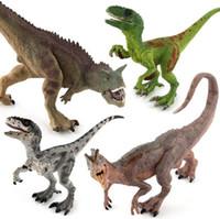 50٪ العالم الجوراسي بارك ديناصور نموذج لعب لعبة الموقف نيو طويل مزدوج التاج التنين رابتور المنقولة هالوين لوازم الأطفال أطفال اللعب