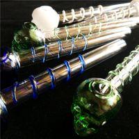 1 шт. Модные разноцветные Great Pyrex 5.5''skull Glass Нефтяная горелка Труба Толстый цвет Стекло для нефтяных вышек Стекло водопроводная труба