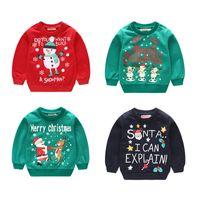 Sweatshirts Enfants Automne Hiver 2018 Bébés Garçons Vêtements De Noël Enfants Pull-overs Pulls Vêtements Cartoon Outwear
