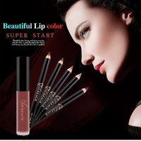NICEFACE Waterproof Matte Liquid Lip Gloss+ Lip Liner Pencil...