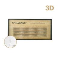 Nagarakuまつ毛延伸ミンク3DボリュームラッシュCカール厚0.07mm長さ7~14mm