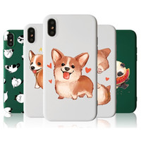 For iPhone X case shockproof TPU back silicone Pet Painted C...