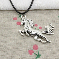 New Fashion Tibetan Silver Pendant running horse 51*32mm Nec...
