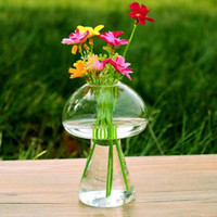 Pilz geformt Glasvase Glas Terrarium Flasche Container Blume Haus Tisch Dekor modernen Stil Ornamente 6 Stück