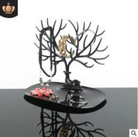Дерево дисплей ювелирных изделий для серьги браслеты ожерелья рога украшения стойки стеллаж для хранения белый розовый черный Мэй красный 23x25x15cm 549