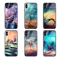 Premium 9H Tempered Glass Phone Case for iphone X 6 6S 7 8 P...