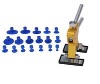 Freies Verschiffen Praktische Hardware Karosserie Paintless Dent Lifter Repair Dent Puller + 18 Tabs Hagel Removal Tool Set Auto Repair Tool Handwerkzeuge