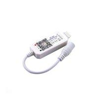 1pcs DHL gratuit Mise à jour sans fil Super Mini RGBW LED wifi Bluetooth 4.0 Dimmer Controller APP pour la lumière de bande DC12-24V