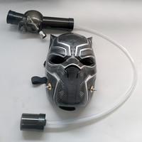 Masque à gaz en plastique avec tuyaux souples Fumer la pipe à eau Bongs Un ensemble en gros ou Drop Shipping