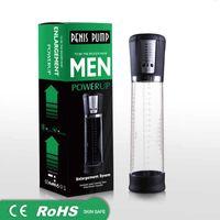 USB pompa elettrica automatica pene ricaricabile ingranditore del pene potente pompa del vuoto ingrandimento del pene Extender sesso giocattoli per gli uomini
