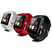Original bluetooth u8 smartwatch relógios de pulso da tela de toque para i7 s8 android telefone monitor de sono relógio inteligente com pacote de varejo
