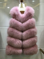 Big Promotion luxury sleeveless Jacket for women puffy fur w...