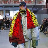 뜨거운 판매 길게 미소 니트 스카프 인기 무료 포옹 더블 Thicken 스카프 남성 여성 겨울 패션 술 스카프 목도리