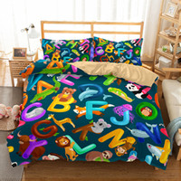 3d Home Kids Children Bedding Sets Letter and Sloths 3pcs Du...