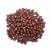 400 teile / los 6mm Kaffee Farbe Natürliche Holzperlen DIY Schmuck Zubehör Großhandel Afrikanische Runde Loch Perlen Für Schmuck machen
