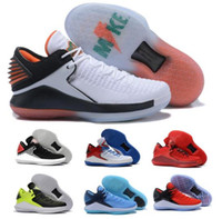 Luxe 32 Basketball Shoes Low Mens Mike 32s XXXII White UNC G...