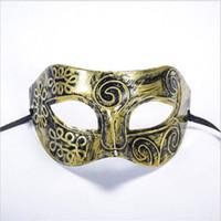 Adam Mannen Masker Retro Romeinse Griekse Savaşçı Prins Maskeleri Venetiaanse Maske Parti Yarım Gezichtsmasker Kerstmis Nieuwjaar