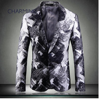 Jacket suit for man, luxury jacquard printed fabric, gentlem...