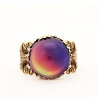 Мода женщины эмоции чувство кольцо переменчивый изменение цвета кольцо женская партия Свадьба День Рождения ювелирные изделия подарок MJ-RGM01