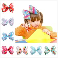 Big Size 12cm Unicorn Pattern Thread Band JoJo Bows Hairpin ...