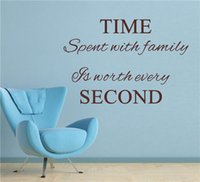 "English letters "" Time spent with family is worth every ..."