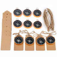 Ourwarm 50 set Wedding Souvenirs for Guests Compass+ Tags Lab...