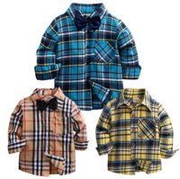 2018 Spring Autumn Baby Boys Plaid Shirts Child Kid Boys Lon...