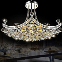 Modern Luxury Crystal Chandelier Lighting Fixture Crystal Pe...