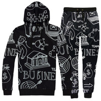 Brand Clothing 2 Piece Set Men Women 3D Hooded+ Pants Tracksu...